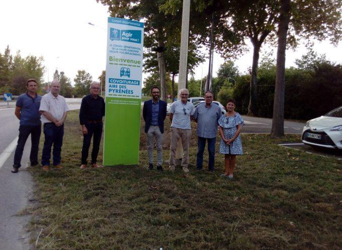 Une nouvelle aire de covoiturage inaugurée à Martres Tolosane