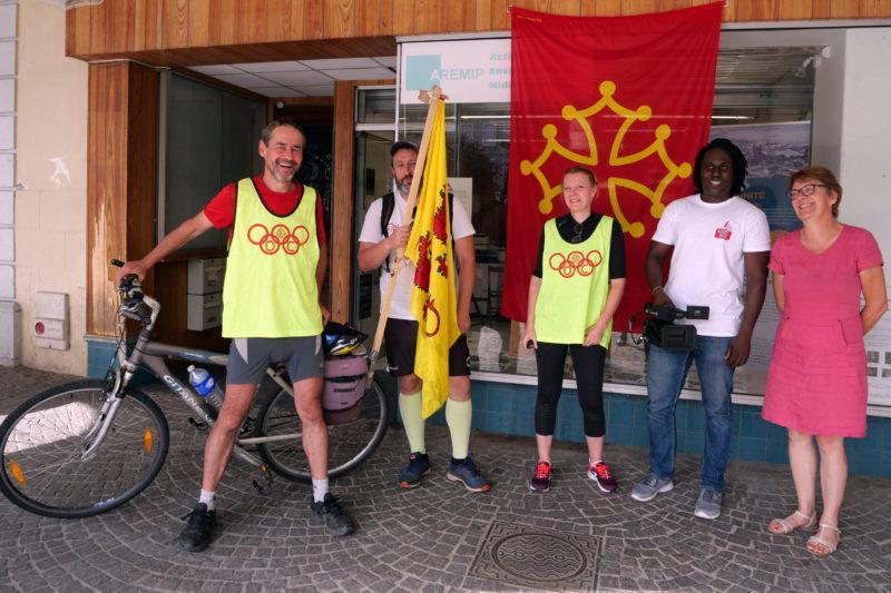 Fabrice, Sylvain, Fabienne, Radio Païs et Françoise