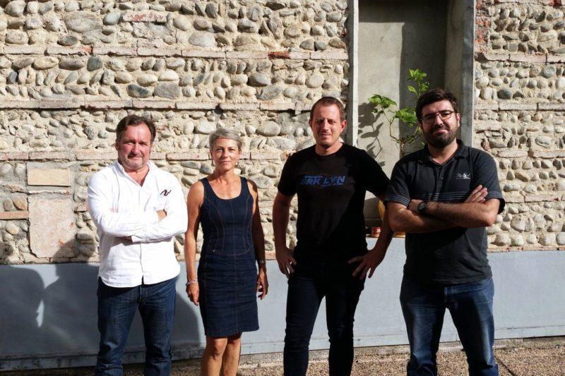 de g à d : Jean Micoud (CDT31), Florence de la Touche, Geoffroy Bouigue et Richard Coste