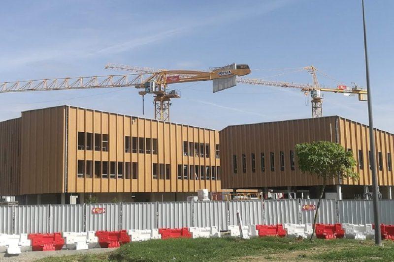 Le futur lycée Martin Malvy prend forme.