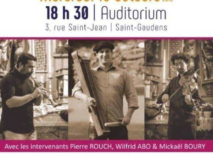 Musiques traditionnelles au Conservatoire de Saint Gaudens
