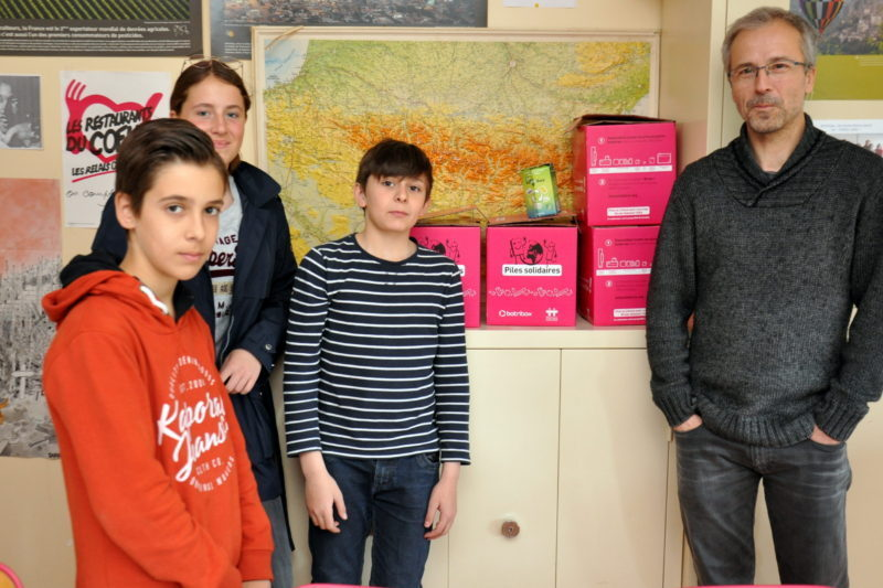 Dominique Rech et des élèves lors d'une précédente édition
