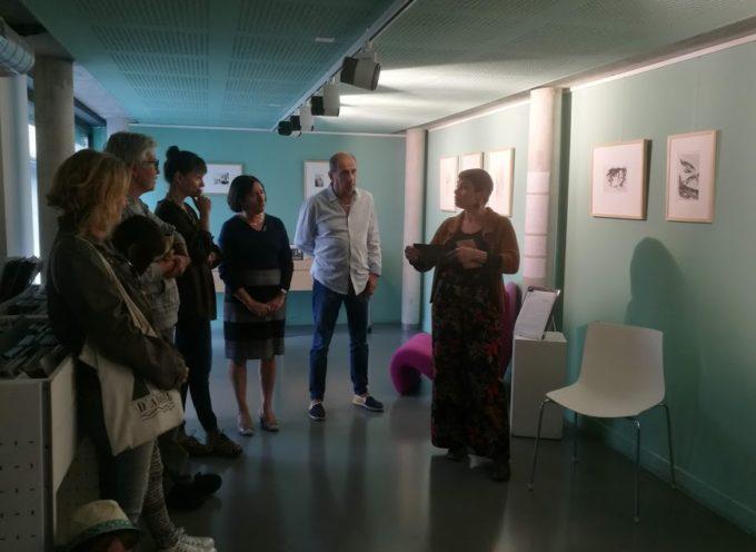 Ekin Kirimkan expose à la médiathèque de Cazères