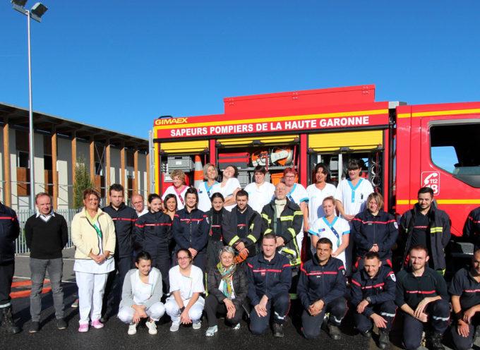 Montréjeau : Les pompiers à l'Ehpad du Mont Royal