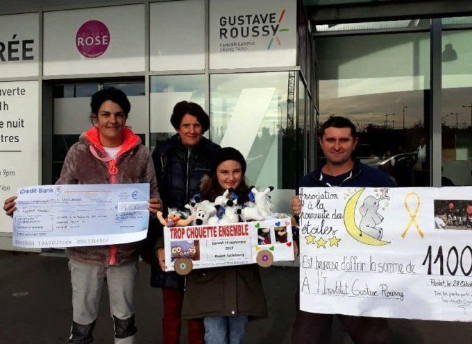 Ponlat Taillebourg : Un chèque et des peluches pour Gustave Roussy