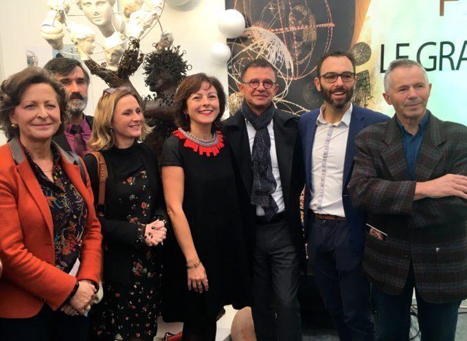 Carole Delga inaugure le salon des arts et du feu de Martres Tolosane