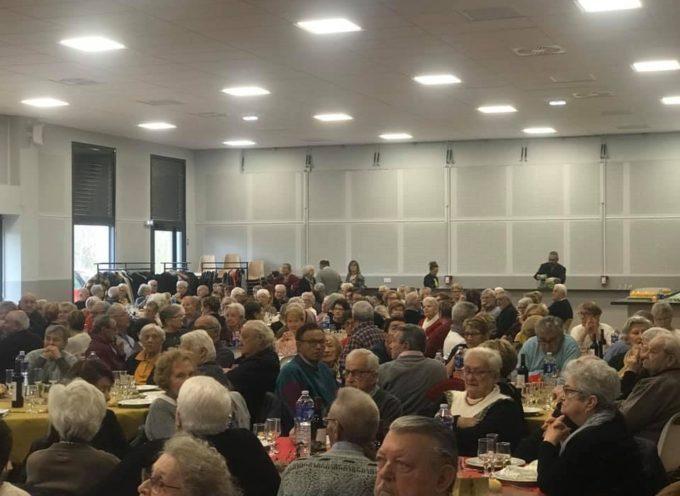 Cazères : 220 ainés au repas de Noël offert par la municipalité