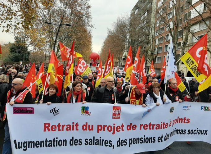 Manifestation pour les retraites : Une réunion intersyndicale dans le Volvestre le 9 décembre