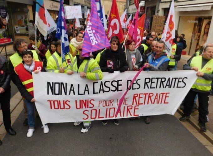 Appel à la manifestation contre la réforme des retraites