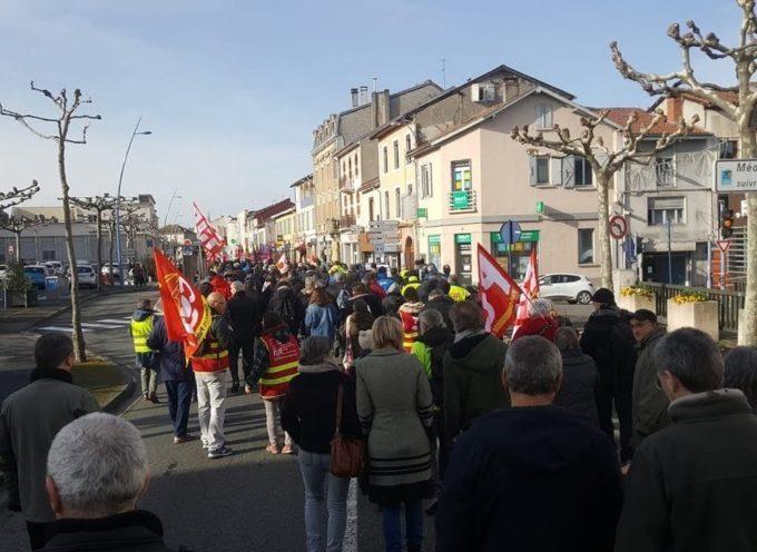 Manifestation contre la réforme des retraites à Saint-Gaudens