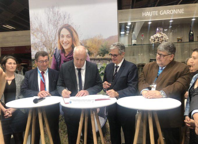 Signature d'un partenariat entre le Conseil départemental de la Haute-Garonne et la Chambre d'agriculture de la Haute-Garonne