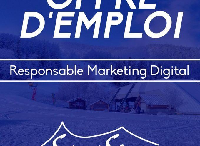 Offre d'emploi : Responsable marketing digital !