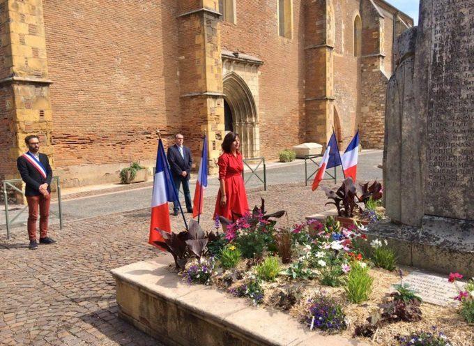 Martres-Tolosane: une commémoration du 8 mai en petit comité avec la présidente Carole Delga