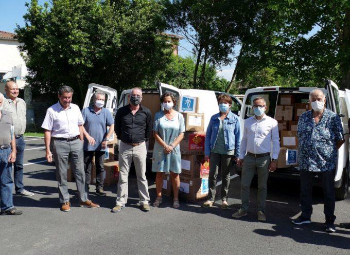 Marquefave : Distribution des masques offerts par la Région et le Département