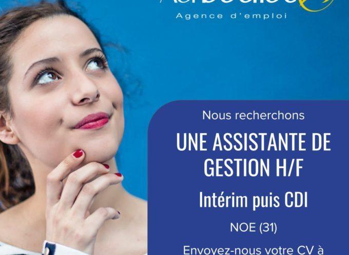 Vous êtes à la recherche d'un emploi pour vous ou l'un de vos proches ? Au Boulot, agence d'emploi à Cazères, recherche pour l'un de ses clients une Assistante de Gestion H/F.