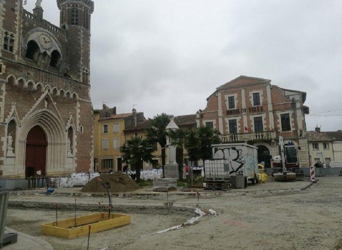 Réhabilitation du centre-bourg de Cazères : La première tranche s'achèvera fin août!