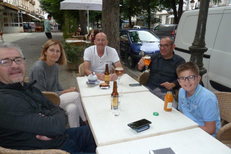Solidarité Luchon  Pot d'accueil de Mireille et Thierry Soignants venus de METZ avec Jérome et Didier