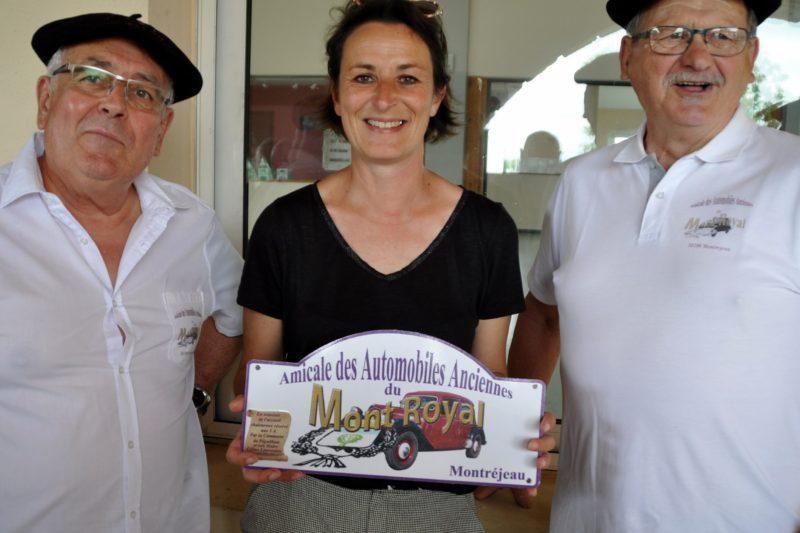 Céline Laurenties au centre. A sa gauche, Bernard Bonzom, président des 3A et Alain Mas, président délégué.