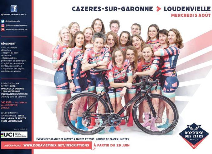 """A M-1 du Tour de France, l'opération """"Donnons des elles au vélo"""" au départ de Cazères"""