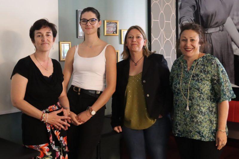 De G. à D. Karine, Emma, Magali et Ghislaine