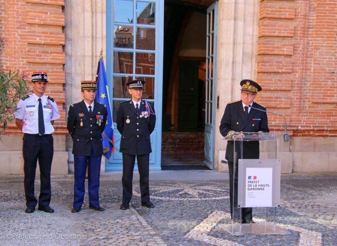 Policiers, gendarmes et sapeurs pompiers à l'honneur à la Préfecture de la Haute Garonne
