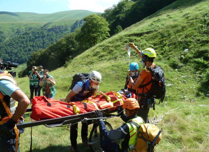 """Hospice de France, exercice de secours montagne. """"Evitons d'avoir besoin des secours"""" !"""