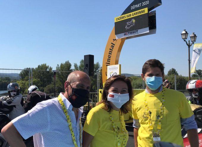 Carole Delga et Michel Oliva ont donné le départ de la 8ème étape du Tour!