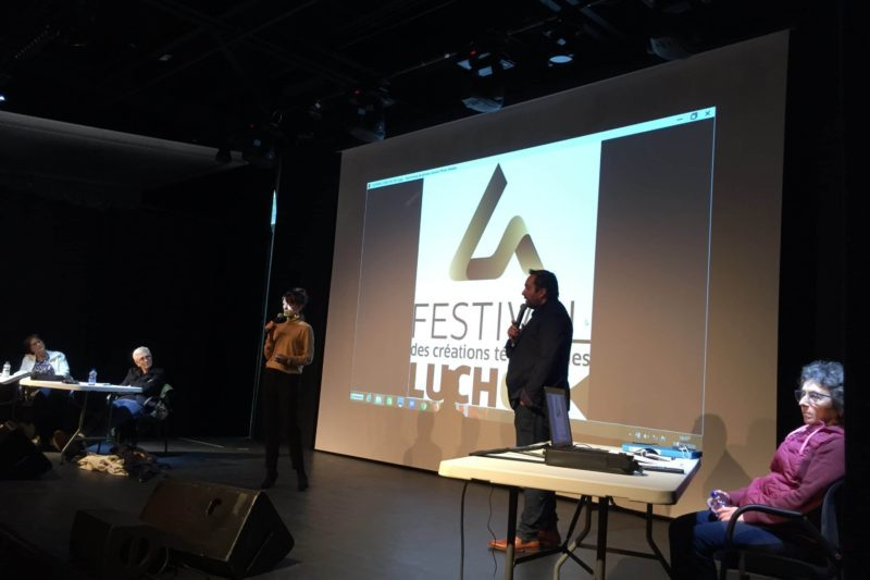Emmanuelle Eymard et Stéphane Caput au dialogue avec la salle.