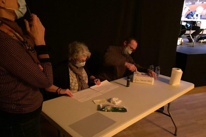 Marie-Christine et Didier au dépouillement de l'élection