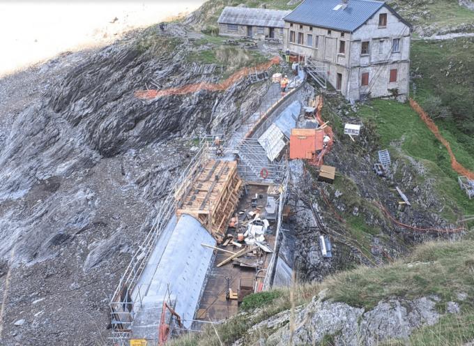 Travaux EDF sur le barrage du Lac d'Oô