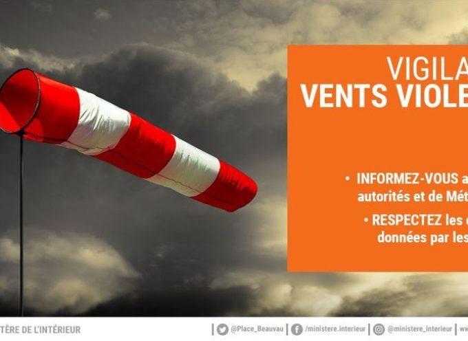 Vigilance orange pour vents violents sur le département de la Haute-Garonne