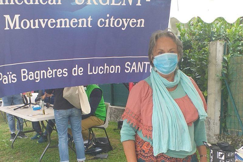 Marie Cécile Naud lors du Forum des Associations en septembre 2020 à Luchon
