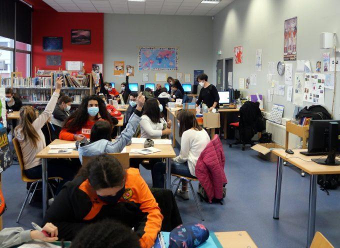 Montréjeau  Collège Bertrand Laralde, les collégiens et l'information
