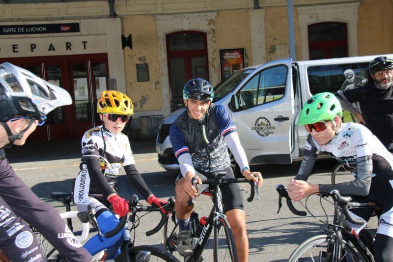 Loïs avec notre champion Luca.