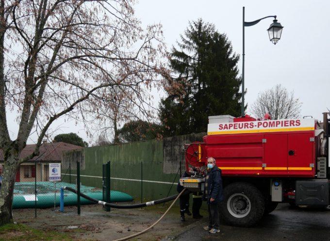 Sécurité incendie : une réserve d'eau souple mise en place