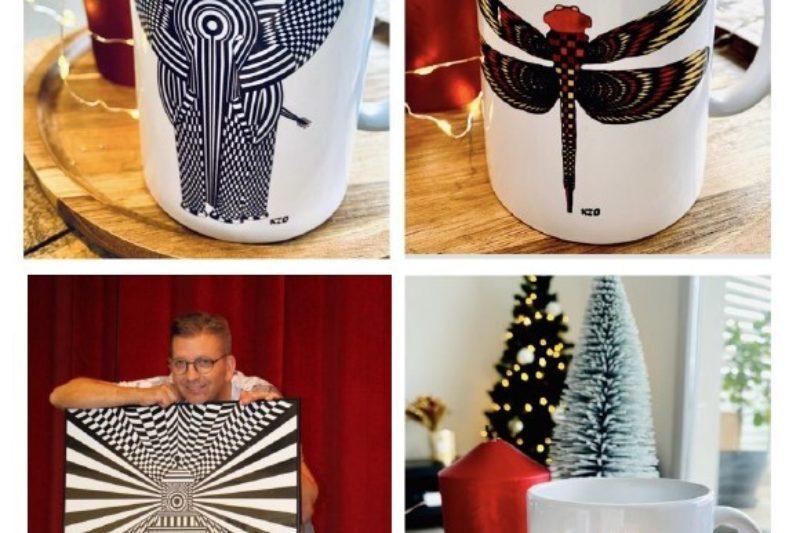 Trois des mugs réalisés