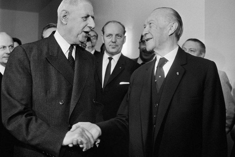 Charles de Gaulle et Conrad Adenauer