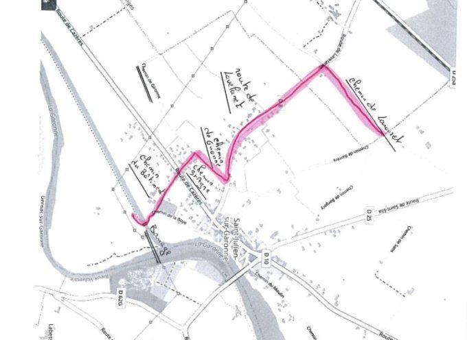 Déviation piste cyclable Carbonne-Boussens