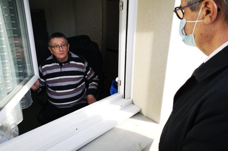 Georges Méric a échangé avec les habitants de la résidence sénior Coeur de Village