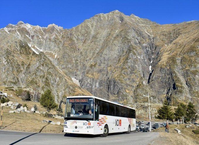 18 stations des Pyrénées desservies par le réseau d'autocars liO au tarif de 1 à 2€ maximum