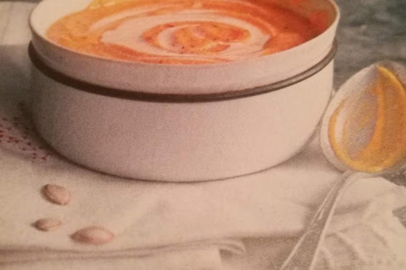 Velouté de butternut et crème de gingembre