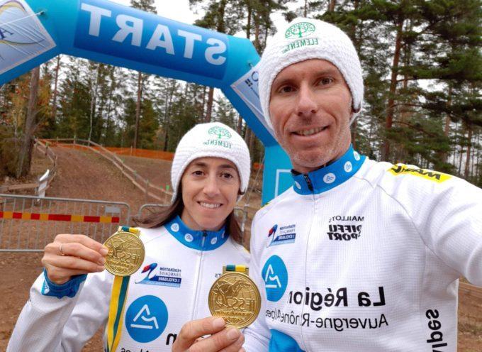 Bikejoëring et skijoëring avec Elodie Castex et Emmanuel Henry champions du monde