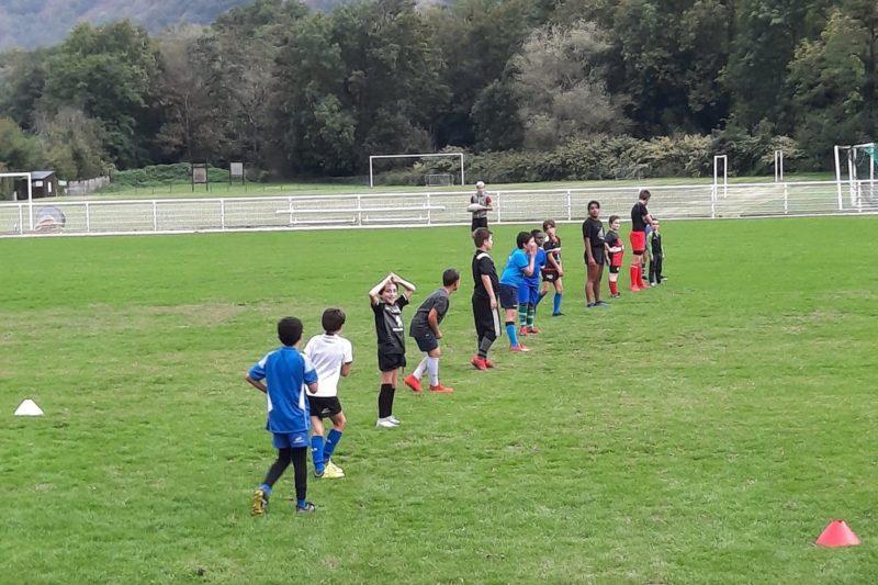 Ecole de rugby SSGL séance du mardi à Luchon