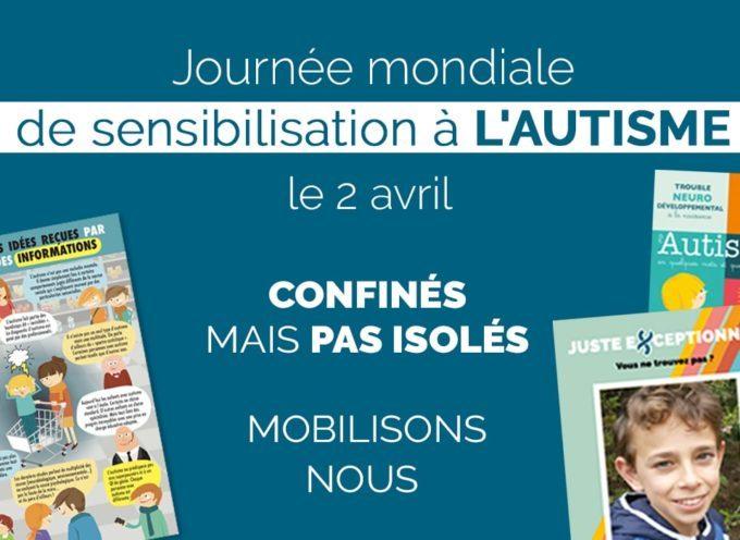 Vendredi 2 avril, journée mondiale de sensibilisation à l'autisme
