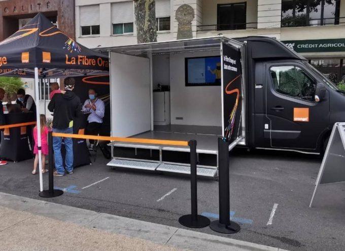 Le camion Orange Fibre sera présent à Cazères le samedi 17 avril 2021