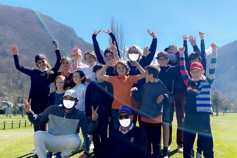 Les jeunes de l'Ecole de Golf de Luchon