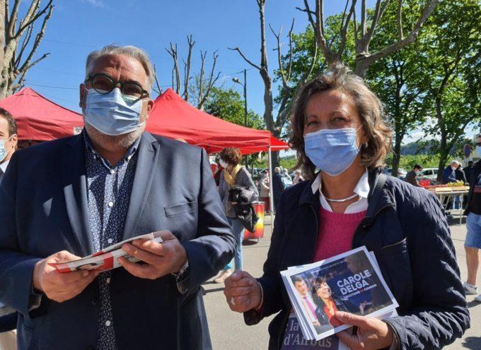 Les représentants locaux  de « L'Occitanie en Commun » au marché de Carbonne!