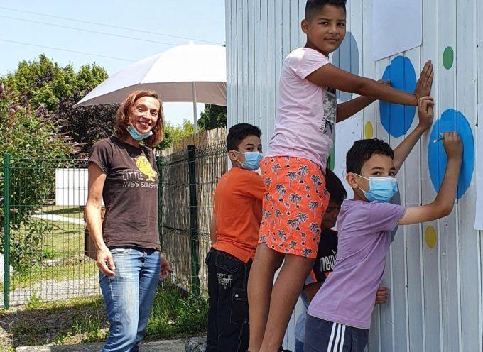 Montréjeau   MJC : Une fresque réalisée par des enfants
